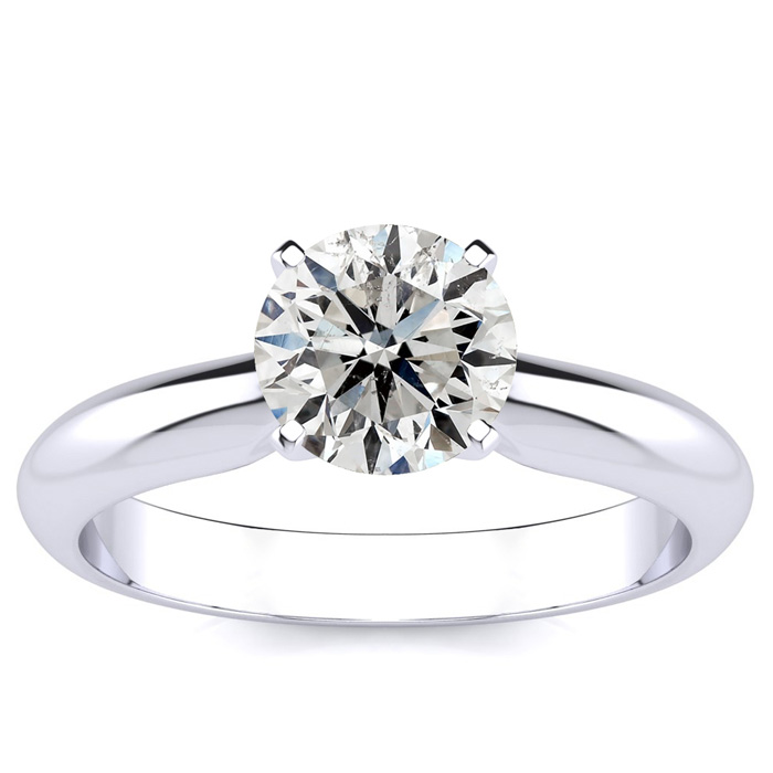 Good Quality 1.25ct Diamond Solitaire in 14k White Gold