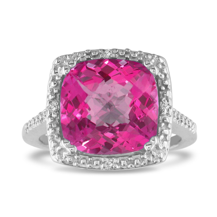 4ct pink topaz and ring sterling silver