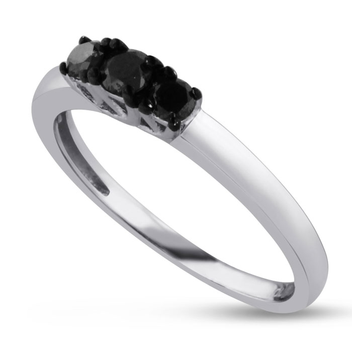 1/4ct Black Diamond Ring, SAVE 81%