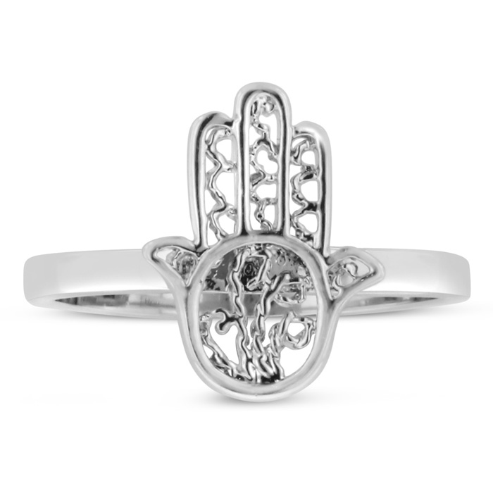 Dainty Hamsa Ring, Available In Ring Sizes 5-8