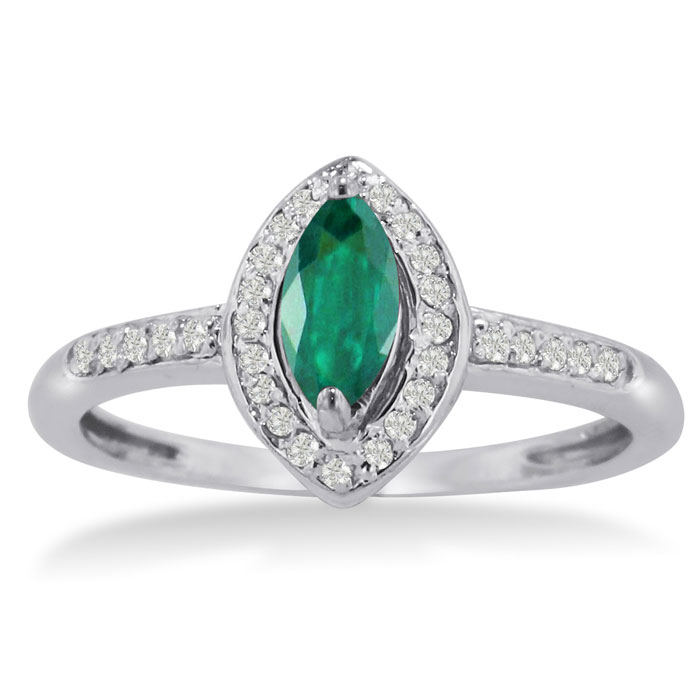 3 4ct marquise emerald and ring crafted in solid