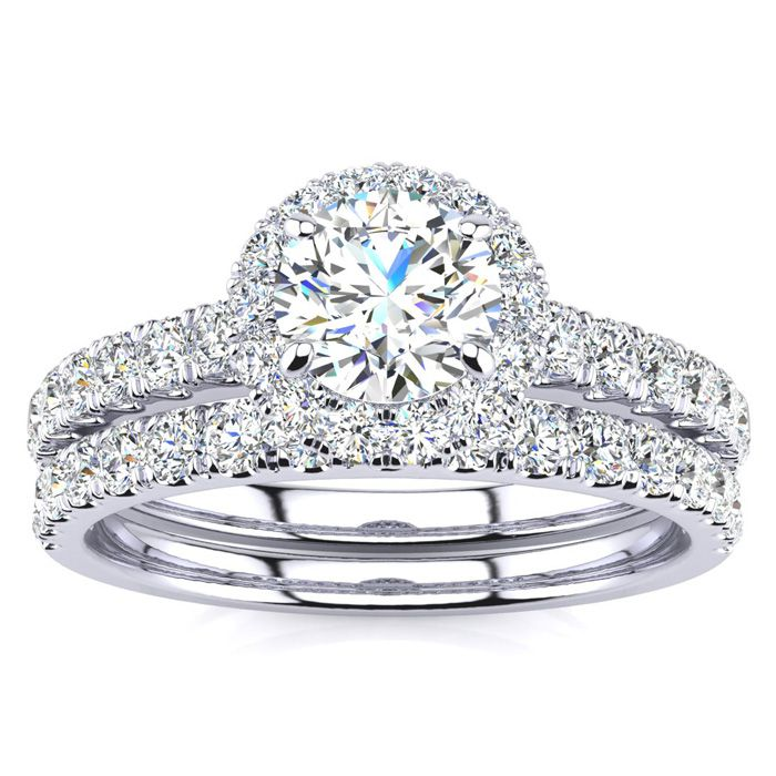 1/2ct Pave Round Diamond Bridal Set