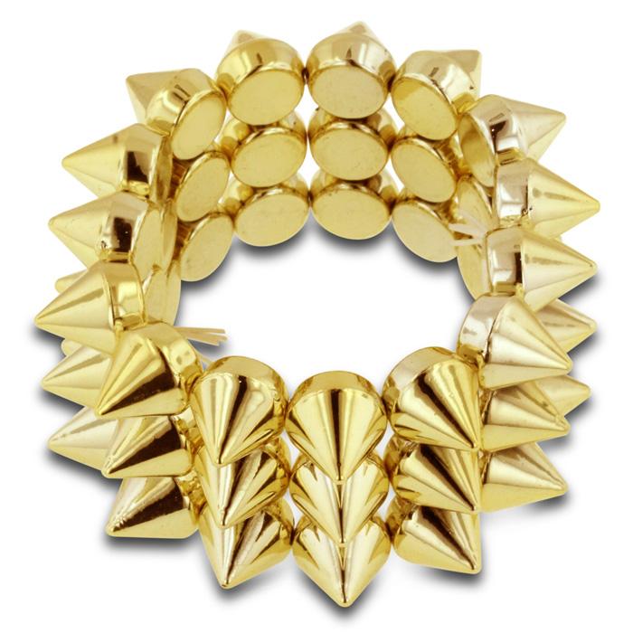 Gold Spike Stretch Bracelet