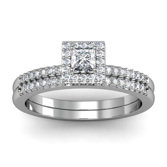 1/2ct Pave Diamond Bridal Set