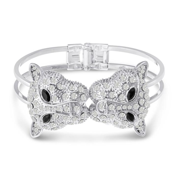 Swarovski Elements Jaguar Bangle Bracelet
