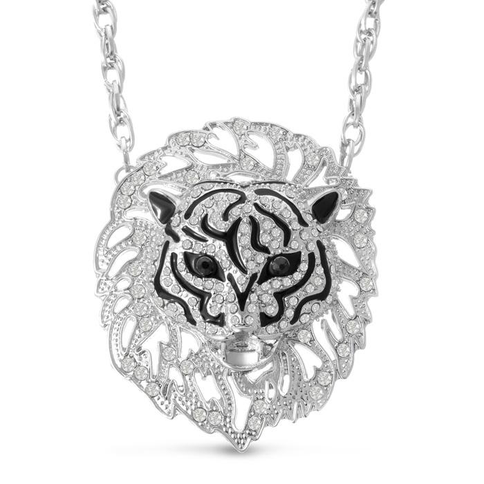 Swarovski Elements Lion Statement Necklace, 20 Inches