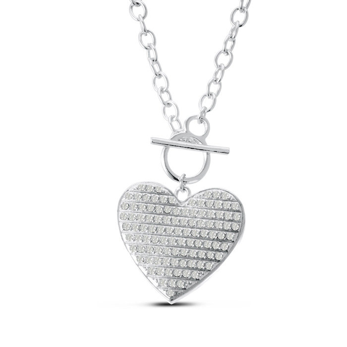 Swarovski Elements Heart Statement Necklace