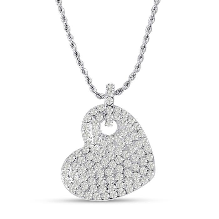 Swarovski Elements Crystal Heart Sweater Necklace