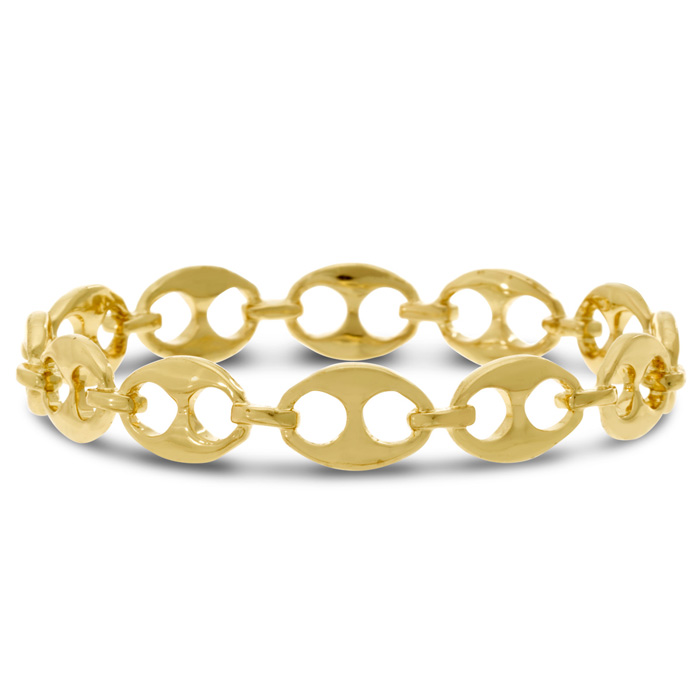 Gold Bike Chain Bangle Bracelet
