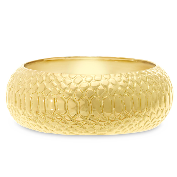 Bangle Bracelets Gold Overlay Gold Snakeskin Bangle Bracelet