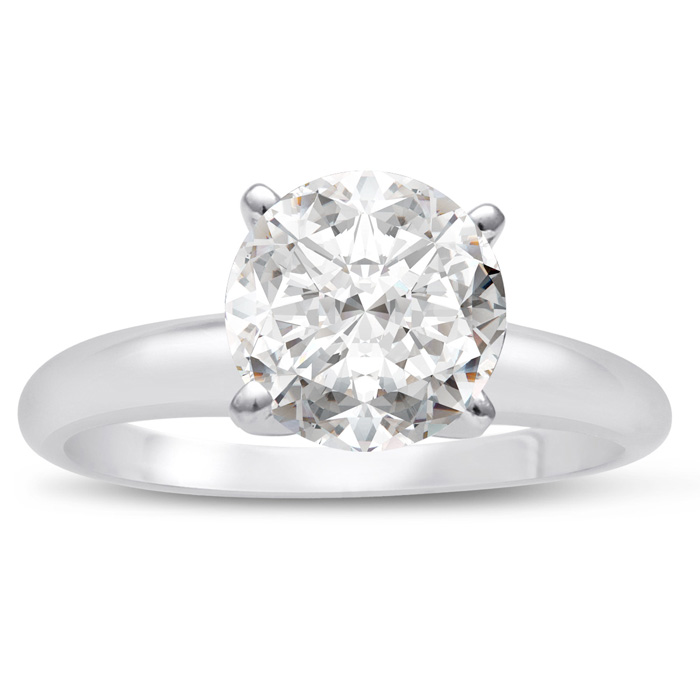 1 25 Carat Round Cut Diamond Solitaire Engagement Ring