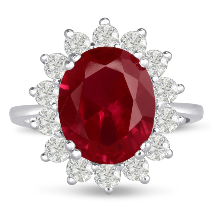 2.2ct Ruby and Diamond Duchess Kate Ring