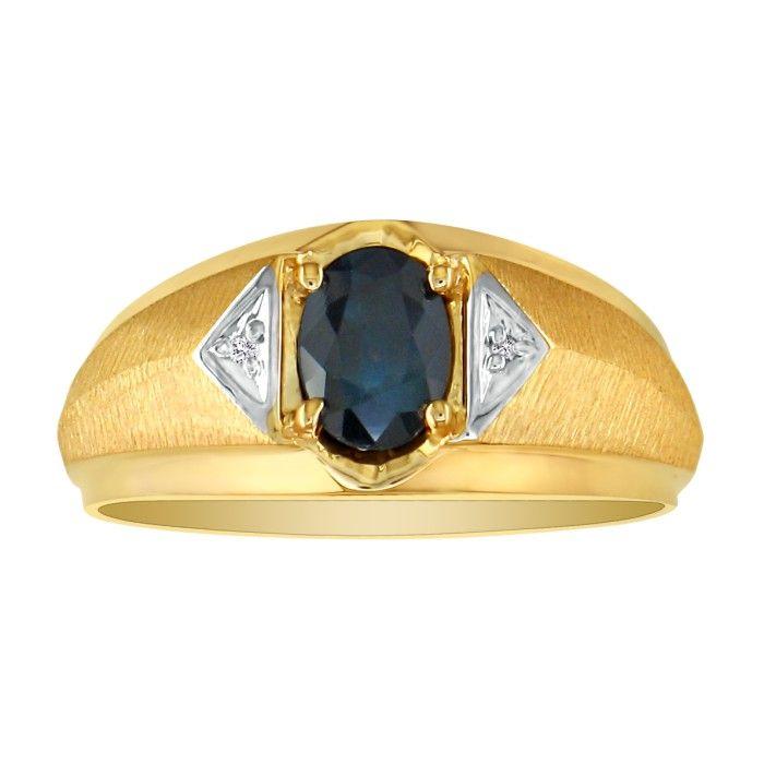 1/4ct Mens Diamond Ring in 10k Yellow Gold