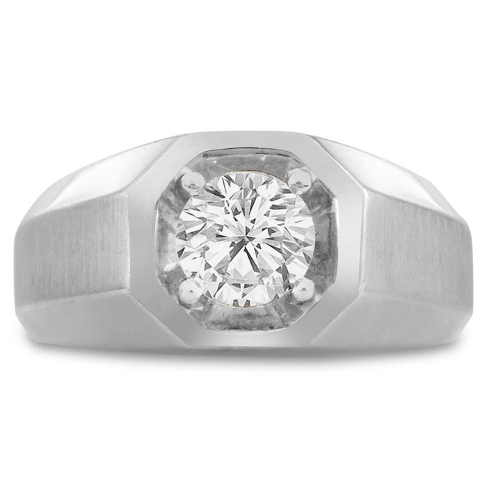Superjeweler Com Fine Men S 1ct Diamond Ring In 14k