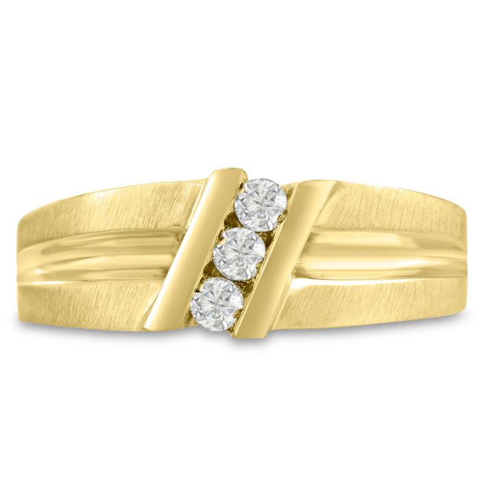 1ct Diamond Band In 10k Yellow Gold