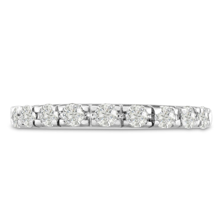 1/2ct Diamond Wedding Band In 14 Karat White Gold thumbnail