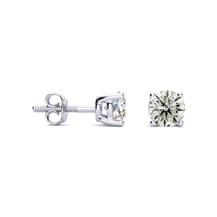 The Price is Right 1ct Diamond Stud Earrings Set In White Gold