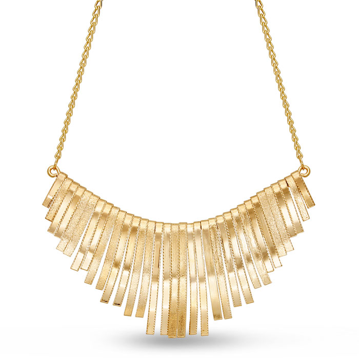 Golden Strand Bib Necklace, 18 Inches