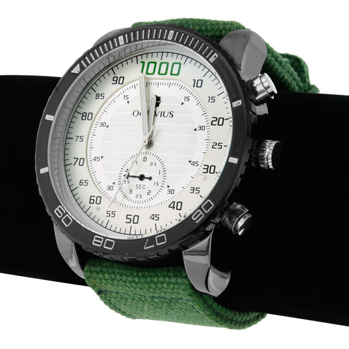 Octavius Men s Foxhole Watch Army Green Canvas