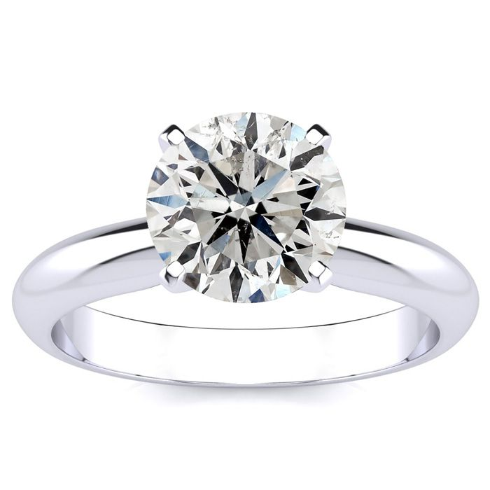 Fine Quality 2ct Diamond Solitaire in 14k White Gold