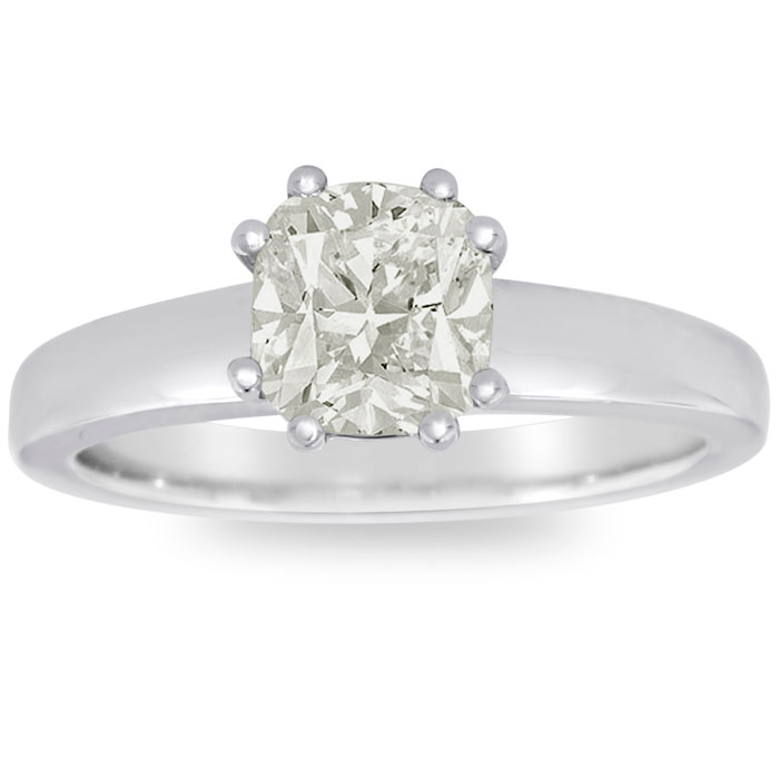 1.50 Carat VS Clarity Cushion Shape Diamond Solitaire Ring