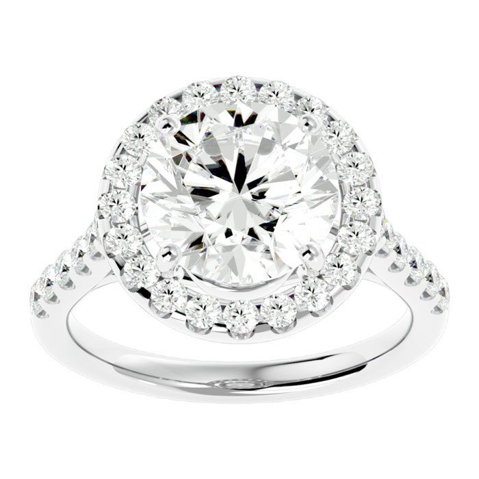 5 66 Carat Diamond 18 Karat White Gold Engagement Ring Including a 5 Carat Ro