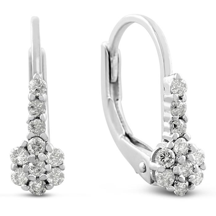 1/4ct Diamond Drop Earrings