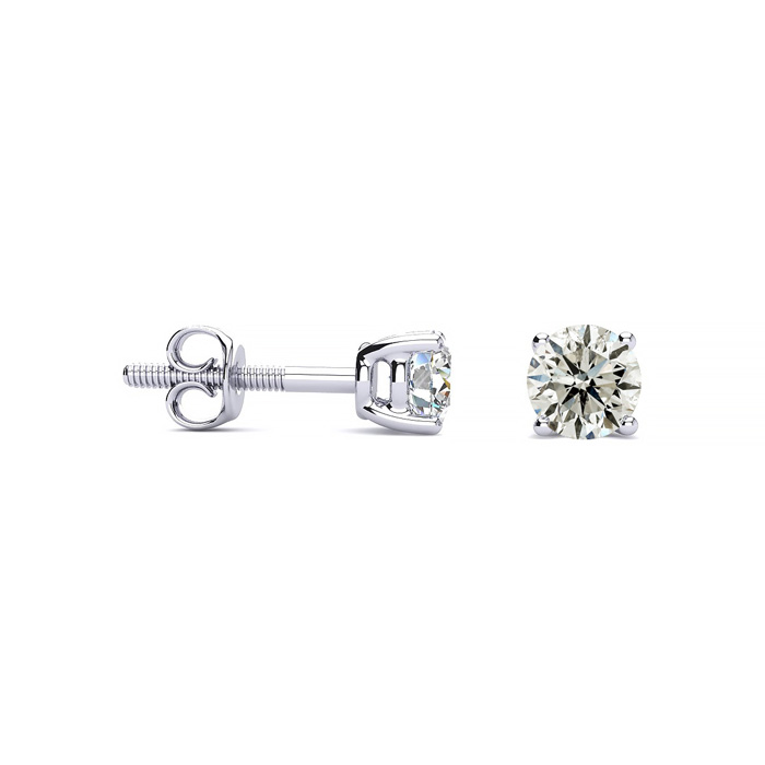 1/2ct Diamond Stud Earrings in Platinum
