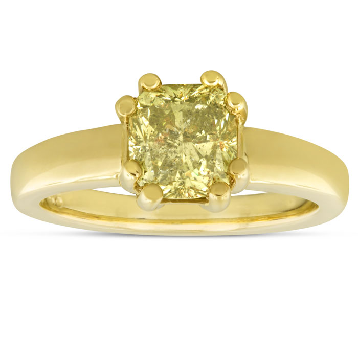 1.79ct Yellow Diamond Engagement Ring in 14k Yellow Gold