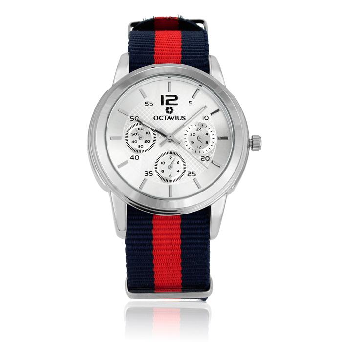 Octavius Men's Americas Watch - Navy and Red