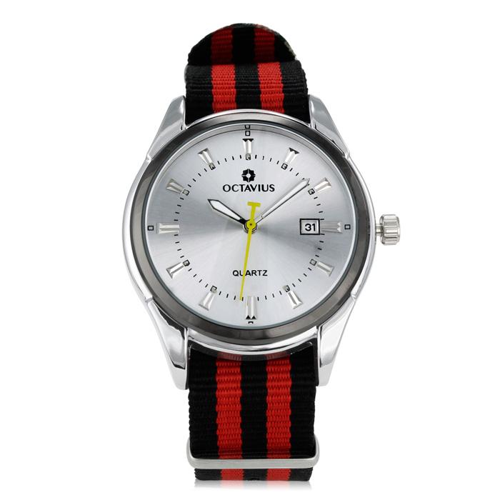 Octavius Men's Regatta Watch - Black and Red