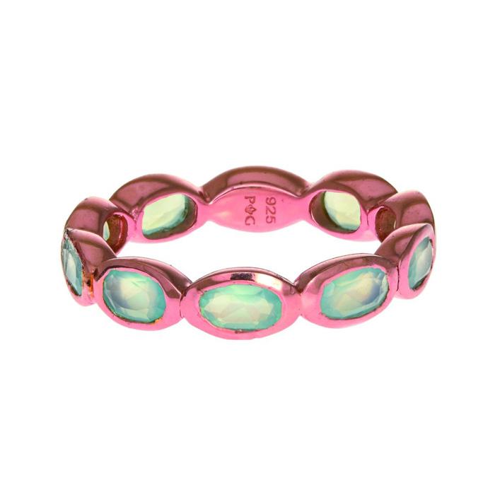 Phillip Gavriel Organic Eternity Ring Aqua Chalcedony size 6-9