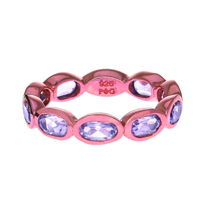 Phillip Gavriel Organic Eternity Ring Pink Quartz size 6-9