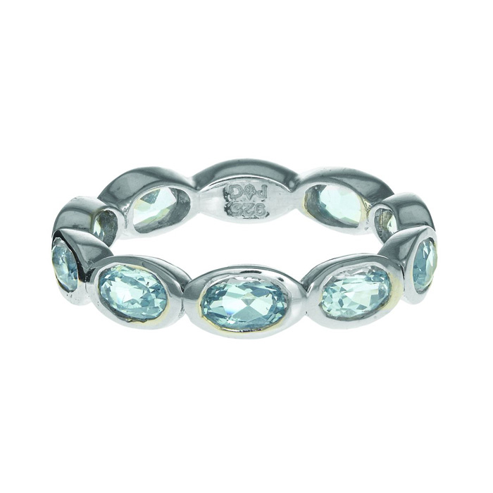 Phillip Gavriel Organic Eternity Ring Blue Topaz size 6-9