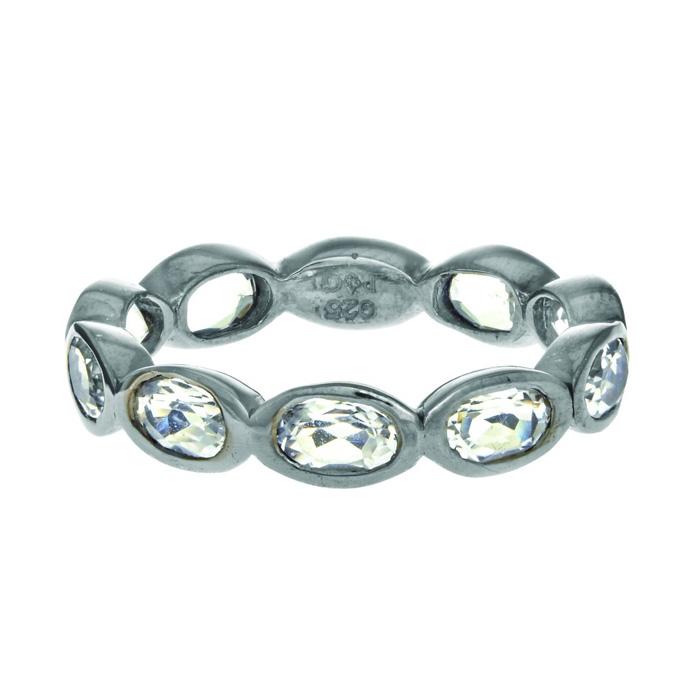 Phillip Gavriel Organic Eternity Ring Rock Crystal size 6-9