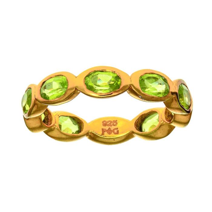 Phillip Gavriel Organic Eternity Ring Peridot size 6-9