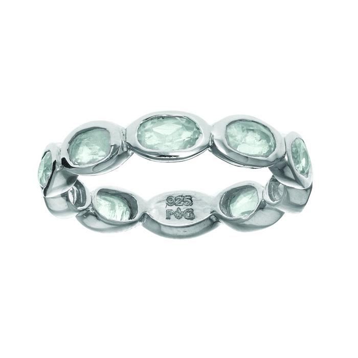 Phillip Gavriel Organic Eternity Ring Moonstone size 6-9
