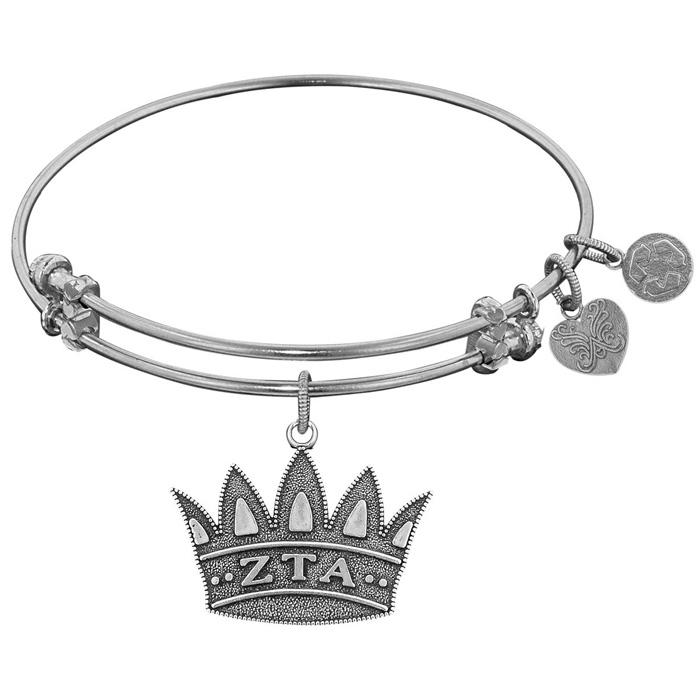 Angelica Bracelet Zeta Tau Alpha  Antique White Tone