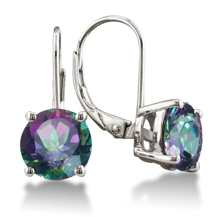3.5ct Mystic Topaz Drop Earrings