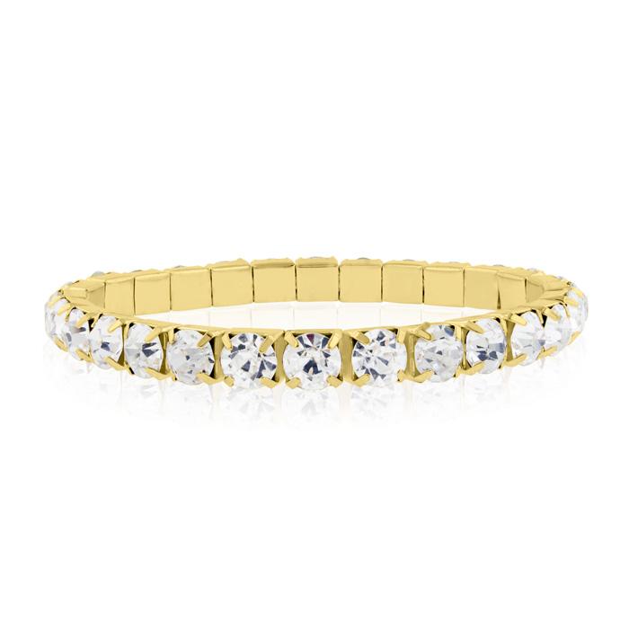 20ct Diamond Crystal Bracelet in Gold Overlay