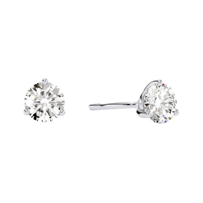 martini setting earrings 1 2ct stud earrings in 14k white gold with 4531