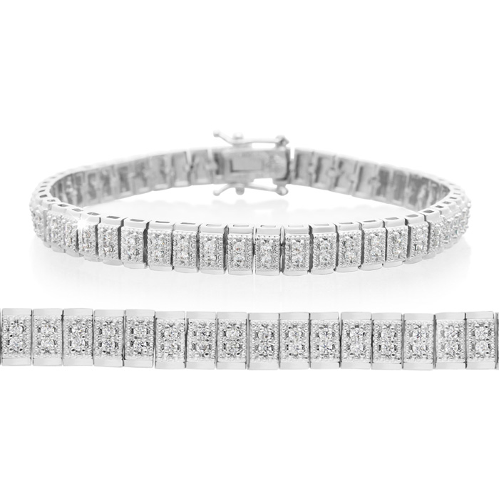 1ct Two Row Diamond Bracelet