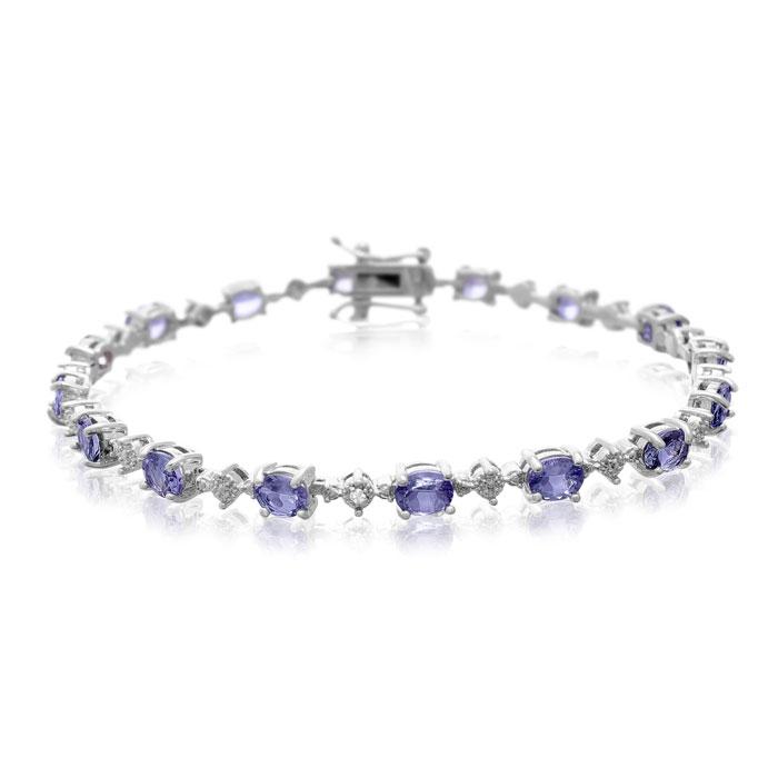 5ct Tanzanite and Diamond Bracelet
