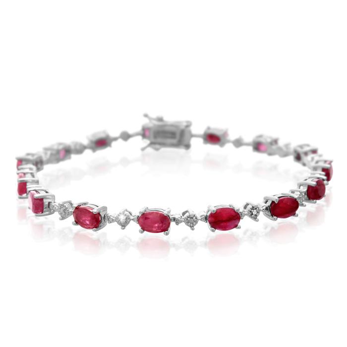 9 3/4ct Ruby and Diamond Bracelet
