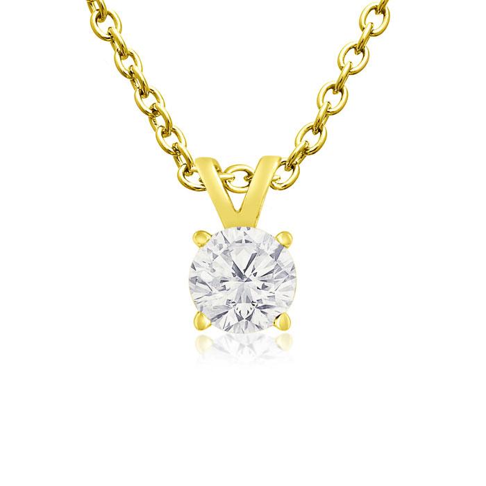 1/4ct Diamond Pendant in 14k Yellow Gold