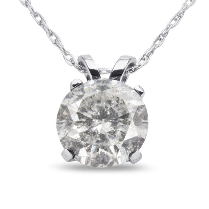 VERY FEW TO GO AROUND! GRAB THIS DEAL! 1 1/2ct Diamond Pendant in 14k White Gold
