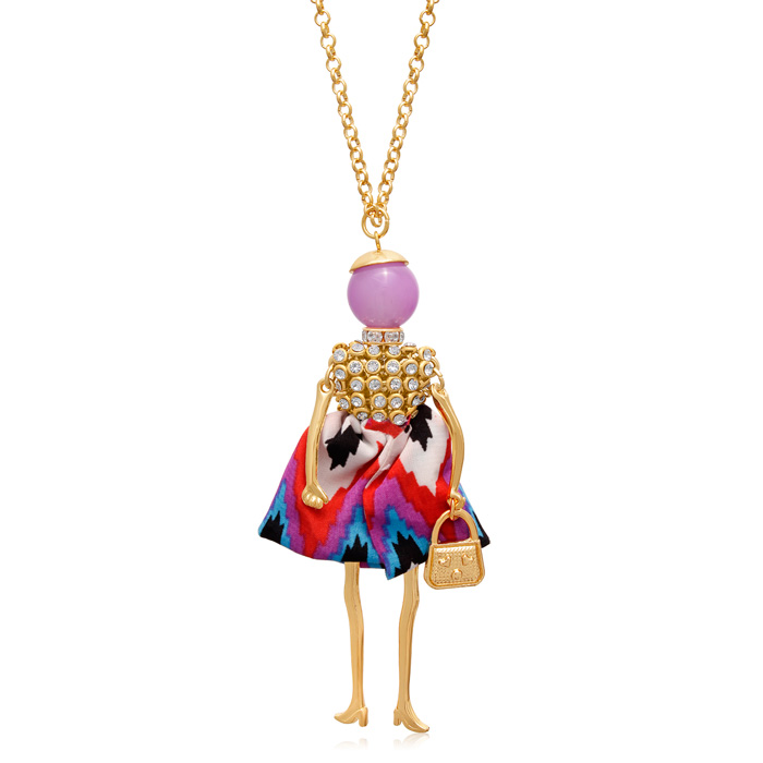 Girls Just Wanna Have Fun Doll Necklace, 28 Inches
