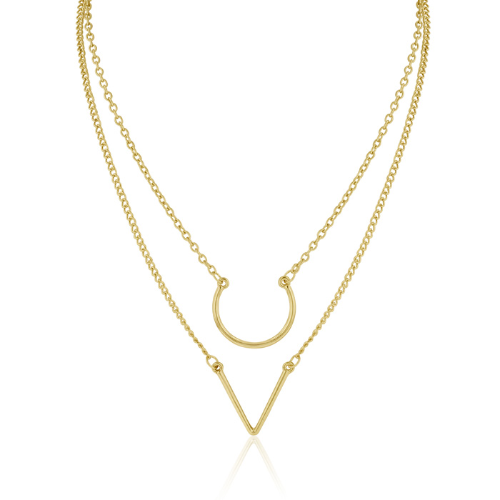 Double Strand Necklace, Yellow Gold