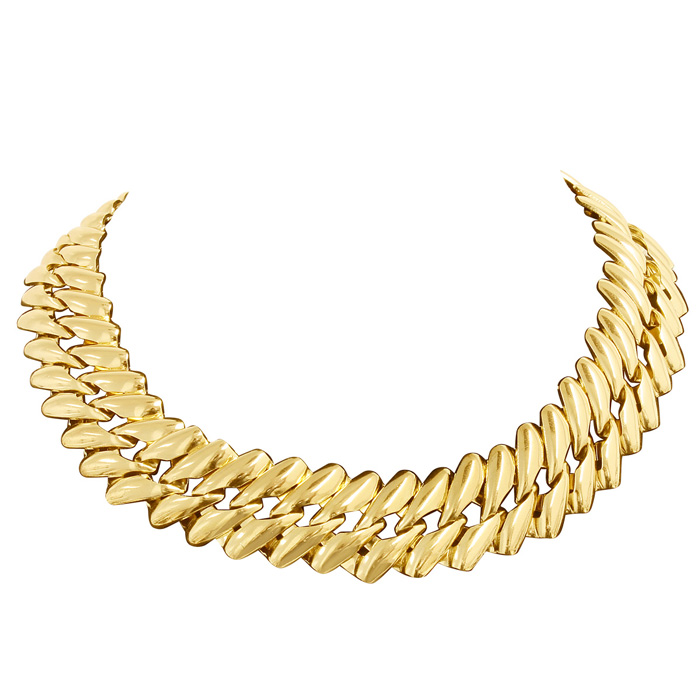 Gold Twisted Chain Necklace, 18 Inches