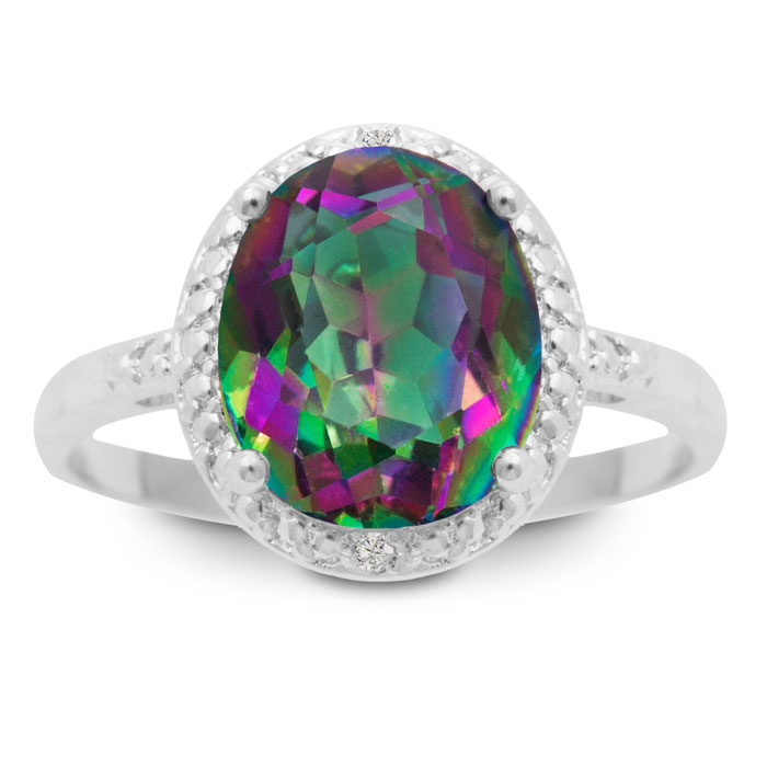 Oval 2 3/4ct Mystic Topaz Ring